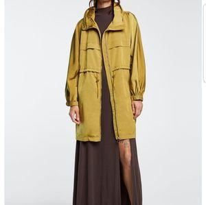 Zara Hooded rain coat with high collar